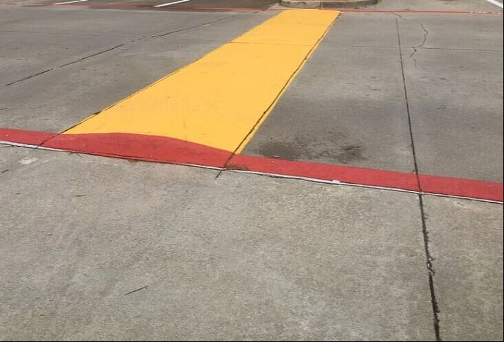 Parking lot speed bumps in Lee's Summit, MO